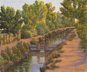 Grande Paintings - Rio Grande Ditch by James Fieldson