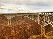 Grande Framed Prints - Rio Grande Gorge Bridge Framed Print by Christine Hauber