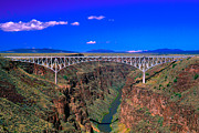 Rio Grande Posters - Rio Grande Gorge Bridge Taos County NM Poster by Troy Montemayor