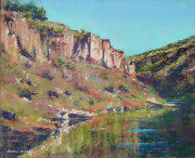 New Mexico Pastels Originals - Rio Grande Reflections by James Roybal
