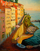 Italian Villas Paintings - Riomagiorre Magic by Scott Palmer