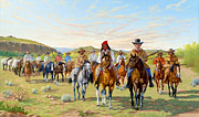 Texas Rangers Paintings - Rip Fords Dps 1850 by Howard Dubois