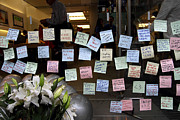 Ipod Posters - RIP Steve Jobs . October 5 2011 . San Francisco Apple Store Memorial 7DIMG8575 Poster by Wingsdomain Art and Photography