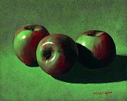 Beverage Painting Prints - Ripe Apples Print by Frank Wilson