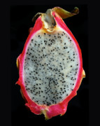 Tropical Fruit Prints - Ripe Red Pitaya. Print by Terence Davis