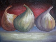 Figs Painting Prints - Ripening Figs Print by Julliette Salter