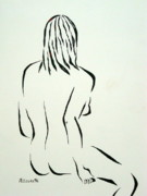 Figure Drawing Prints - Ripose 1 Print by Pamela Allegretto