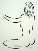 Seated Nude Drawing Prints - Ripose 2 Print by Pamela Allegretto