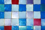 Light Aqua Prints - Ripple Tiles Print by Carlos Caetano