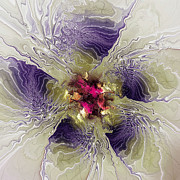 Fractal Mixed Media - Rippled Petals by Deborah Benoit