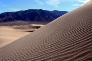 Scenic Drive Prints - Rippled sand dunes in Death Valley  Print by Pierre Leclerc