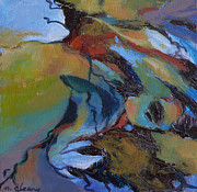 Small Abstract Paintings - Ripples no. 7 by Melody Cleary