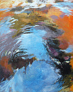 Waterscape Painting Metal Prints - Ripples no.9 Metal Print by Melody Cleary