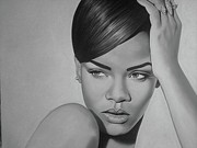 Rihanna Drawings Originals - Riri by Mark Lee McMeekin