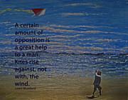 Quotation Painting Prints - Rise Against The Wind Print by Ian  MacDonald