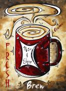 Caffe Latte Posters - Rise and Shine by MADART Poster by Megan Duncanson