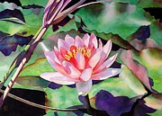 Lotus Pond Paintings - Rise And Shine by Robert Hooper