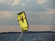 Kite Boarding Framed Prints - Rise from the depths Framed Print by Rrrose Pix