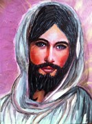 Smiling Jesus Paintings - Risen Jesus  by Cena Rasmussen
