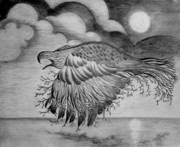 Courage Drawings - Rising Above by Jalal Gilani