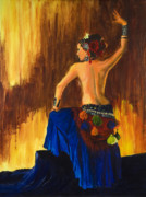 Athletic Painting Originals - Rising Fire by Sandra Jones
