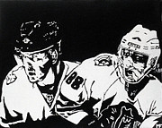 Hockey Painting Originals - Rising Stars by Matthew Formeller