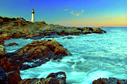Portland Head Lighthouse Framed Prints - Rising Tide at Portland Head Framed Print by Rick Berk