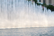 Las Vegas Prints - RISING WALL OF WATER bellagio hotel casino fountains las vegas nevada Print by Andy Smy