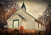 Country Church Framed Prints - Rising Zion Framed Print by Kathy Jennings