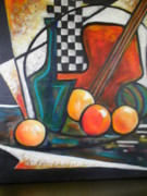 Fruit And Wine Paintings - Ristorante de Madrid by Jane Toliver