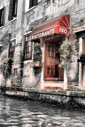 Ristorante Prints - Ristorante on the Canals Print by Greg Sharpe
