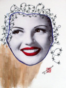 Actors Mixed Media Prints - Rita Haywired Print by Arlene  Wright-Correll