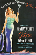 Film Noir Framed Prints - Rita Hayworth as Gilda Framed Print by Nomad Art and  Design