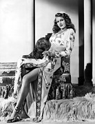 Slit Framed Prints - Rita Hayworth, Columbia Pictures, 1946 Framed Print by Everett