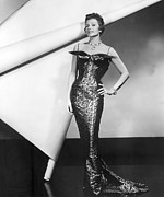 1950s Fashion Framed Prints - Rita Hayworth In Publicity Pose For Pal Framed Print by Everett