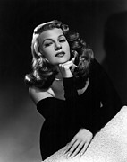 Off The Shoulder Framed Prints - Rita Hayworth, Portrait Ca. 1948 Framed Print by Everett
