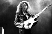 Ritchie Metal Prints - Ritchie Blackmore in Deep Purple 1973 Metal Print by Chris Walter