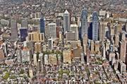 Aerial Photography - Rittenhouse Square Area Philadelphia by Duncan Pearson