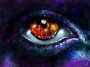 Eye Digital Art Prints - Ritual Print by Patricia C Bernhard