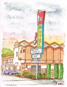 Cards Vintage Painting Prints - Ritz-Motel-in-North-Hollywood-CA Print by Carlos G Groppa