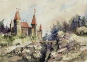 Castle Paintings - Ritzenberg Castle by Sam Sidders