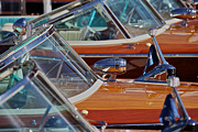 Wooden Boat Photos - Riva Aquarama Runabouts by Steven Lapkin