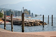Ports Mixed Media Prints - Riva del Garda Print by Kathleen Pio