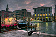 Grand Vin Framed Prints - Riva del Vin. Venezia Framed Print by Juan Carlos Ferro Duque