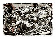 Yamaha Framed Prints - Rivals Framed Print by Mal Bray