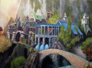 Knights Castle Painting Framed Prints - Rivendell Framed Print by Eel Eye