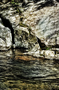 Cracked Stone Prints - River And Rock Print by HD Connelly