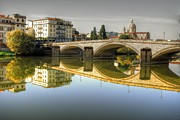 John Williams Metal Prints - River Arno Metal Print by John Williams