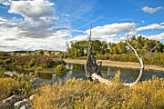 Mixed Media Photos - River At Hudson Wy. by James Steele