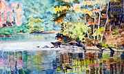 Buffalo River Paintings - River Bend by David Beale